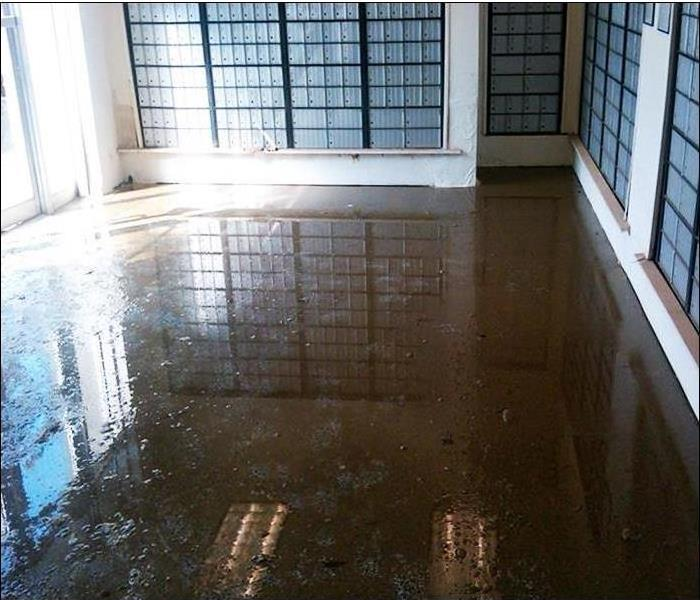 Mail Room in Durango Flooding Problem Before